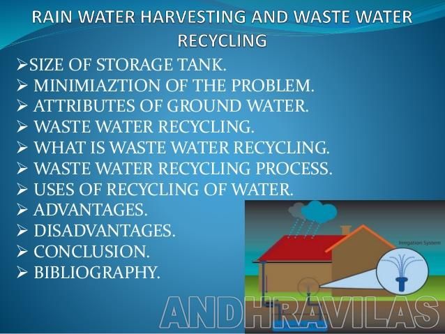 advantages of rainwater harvesting in a