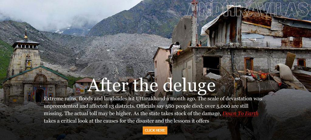 uttarakhand flood essays Ten months after a brutal flood killed thousands of people, leveled riverbank communities, and battered hydroelectric projects across the northern state of uttarakhand in india's himalayan region, a panel of experts has concluded that hydropower development significantly amplified the damage the.